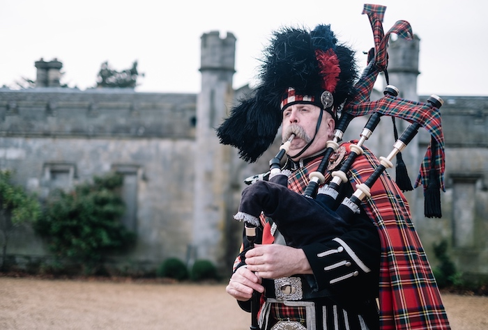 Scotland piper at Dundas Castle