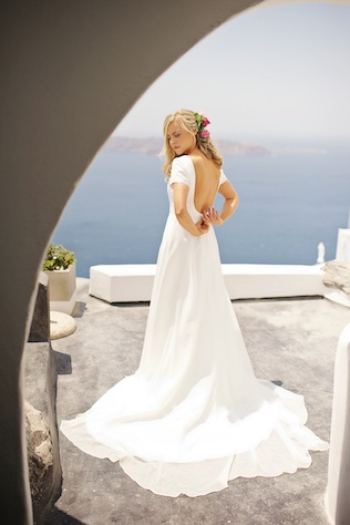 Wedding dress in Greece for elopement