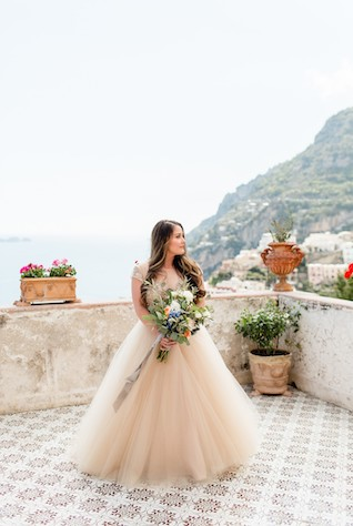 the bride in italy