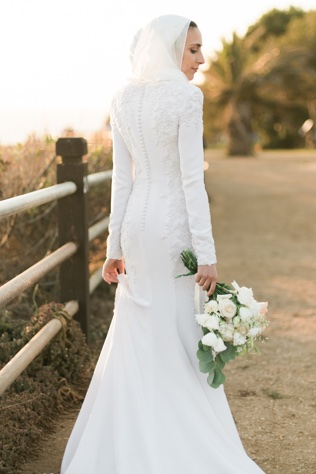 Modest, Sleeved Gown